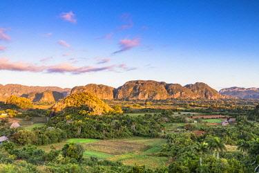 CUB2573AW Vinales Valley at sunrise, Pinar del Rio Province, Cuba