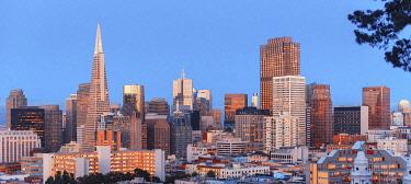 USA15542AW Financial district skyline, San Francisco, California, USA