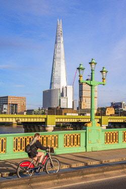 ENG17029AW Soutwark Bridge and the Shard, London, England, UK