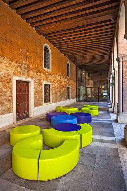 ITA15524 Interior courtyard of the Natural History Museum in Venice, Santa Croce, Venice, Veneto, Italy