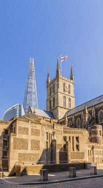 ENG17231AWRF Southwark Cathedral and The Shard, London, England,UK,