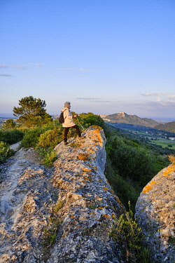 POR10952AW Tranquil walking trail along Serra do Louro mountain range, Arrabida Nature Park. Palmela, Portugal (MR)