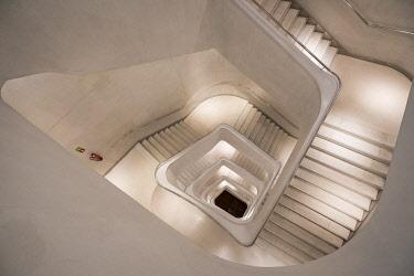 SPA9792AW Staircase at CaixaForum Madrid, Madrid, Community of Madrid, Spain