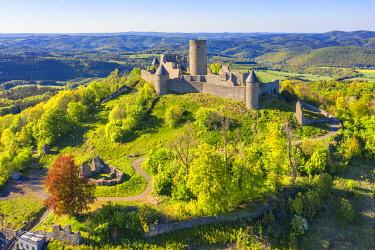 GER12089AW Aerial view at the Nurburg, Eifel, Rhineland-Palatinate, Germany