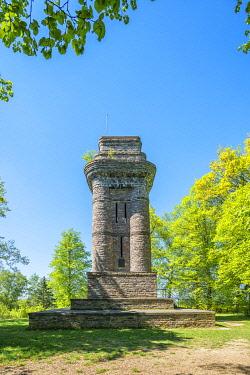 GER12128AW The Bismarck tower near Sargenroth, Hunsruck, Rhineland-Palatinate, Germany