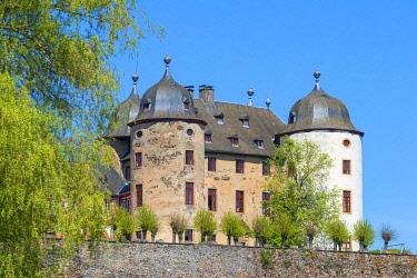 GER12130AW Gemunden castle at Gemunden, Hunsruck, Rhineland-Palatinate, Germany