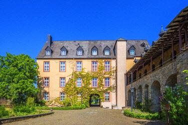 GER12143AW Dhaun castle at Dhaun, Hunsruck, Rhineland-Palatinate, Germany