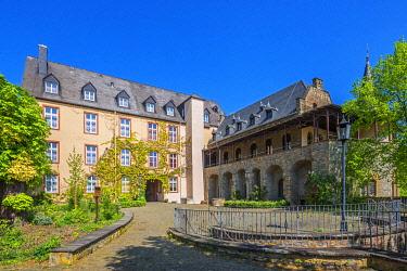 GER12145AW Dhaun castle at Dhaun, Hunsruck, Rhineland-Palatinate, Germany