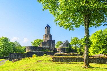 GER12153AW Grimburg castle near Kell am See, Hunsruck, Rhineland-Palatinate, Germany