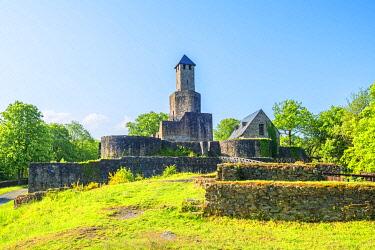 GER12154AW Grimburg castle near Kell am See, Hunsruck, Rhineland-Palatinate, Germany