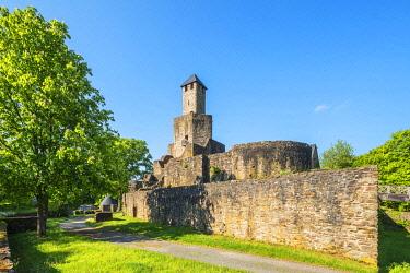 GER12156AW Grimburg castle near Kell am See, Hunsruck, Rhineland-Palatinate, Germany
