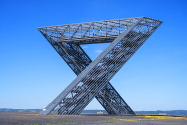 GER12179AW The Saarpolygon at Ensfeld, Memorial for coal mining, Saarland, Germany