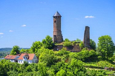 GER12191AW Kirkel castle ruin, Saarland, Germany