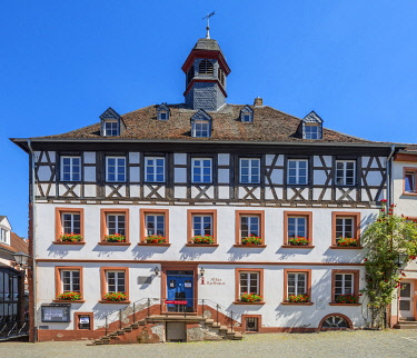 GER12210AW City hall of Ottweiler, Saarland, Germany