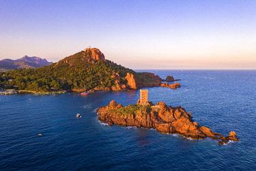 CLKNO132235 Le Dramont Beach and Isle d' Or Island, Saint Raphael, Var, Provence-Alpes-Côte d'Azur, France