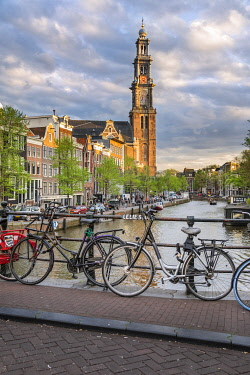 CLKGP131064 The Westerkerk (Western Church) in the Grachtengordel area of Amsterdam (North Holland, Netherlands)