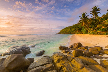 CLKNO130605 Beach at Sunrise, Mahe, Seychelles