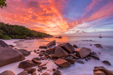 CLKNO130733 Anse Lazio beach, Praslin, Seychelles
