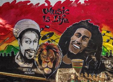 JAM0134AW Barry Street Graffiti, Downtown, Kingston, Kingston Parish, Jamaica