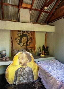 JAM0156AW Bob Marley's Room, Culture Yard, Trench Town, Kingston, Saint Andrew Parish, Jamaica