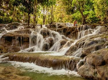 JAM0256AW Dunn's River Falls, Ocho Rios, Saint Ann Parish, Jamaica