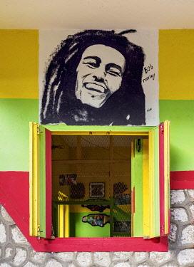 JAM0267AW Bob Marley Mural Painting, Nine Mile, Saint Ann Parish, Jamaica