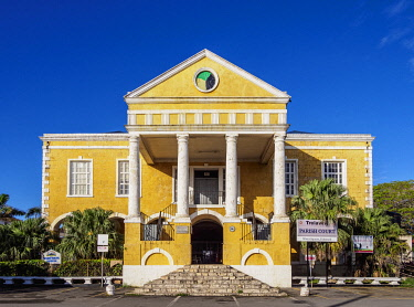 JAM0290AW Courthouse in Falmouth, Trelawny Parish, Jamaica