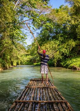 JAM0294AW Martha Brae Rafting, Trelawny Parish, Jamaica (MR)