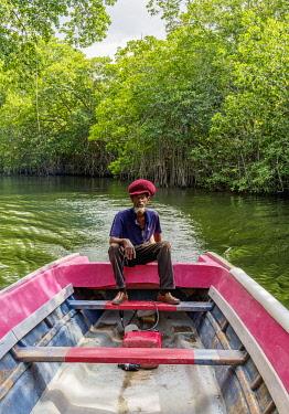JAM0354AW Boat ride through the Mangrove Forest, Black River Safari, Saint Elizabeth Parish, Jamaica