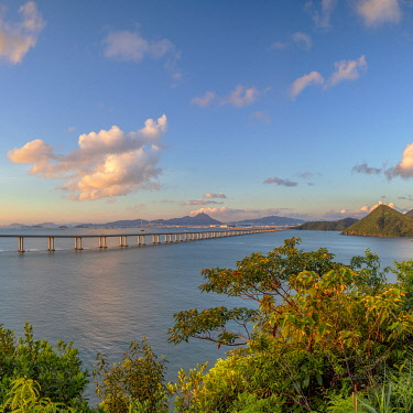 CH12478AW Hong Kong-Zhuhai-Macau bridge, Tai O, Lantau Island, Hong Kong