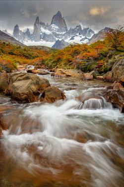 ARG3153AW South America, Patagonia, Argentina, Los Glaciares, National Park, Mount Fitz Roy,