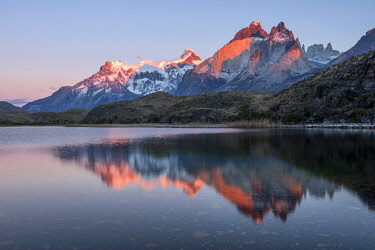 CHI11280AW South America, Andes, Patagonia, Torres del Paine, UNESCO World Heritage, National Park