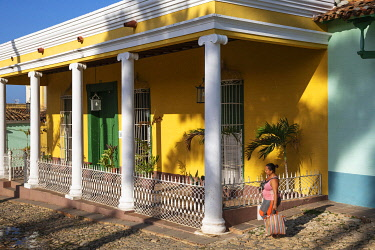 IBLTDR05777657 The Museo de ArqueologI�a at the Plaza Mayor in the colonial old town, Trinidad, Cuba, Central America