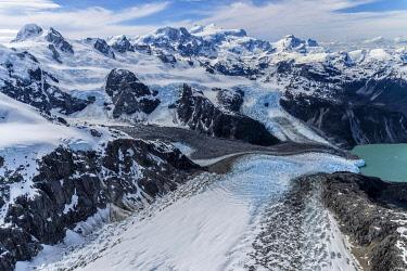 IBXGAB05783674 Northern Patagonian Ice Field, Aerial view, Laguna San Rafael National Park, Aysen Region, Patagonia, Chile, South America