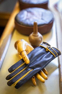 POR10241AW Portugal, Lisbon, Luvaria Ulisses, A glove in the Luvaria Ulisses shop.