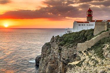 POR10174AW Cape St. Vincent or Cabo de Sao Vicente, Vila do Bispo, Algarve, Portugal