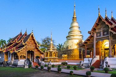 THA1583AWRF Wat Phra Singh (Gold Temple), Chiang Mai, Northern Thailand, Thailand