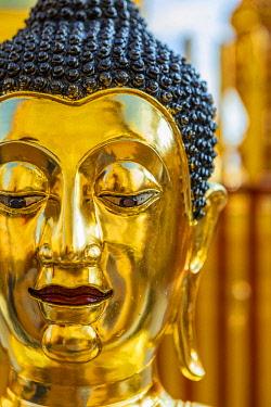 THA1660AW Buddha statue in Wat Phra That Doi Suthep, Chiang Mai, Northern Thailand, Thailand