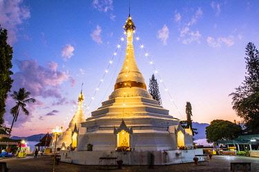 THA1686AW Wat Phrathat Doi Kongmu, Mae Hong Son, Northern Thailand, Thailand