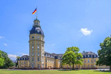 GER12297AW Karlsruhe Palace, Karlsruhe, Rhine valley, Baden-Wurttemberg, Germany