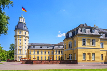 GER12299AW Karlsruhe Palace, Karlsruhe, Rhine valley, Baden-Wurttemberg, Germany