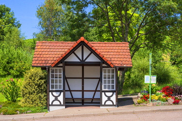GER12374AW Bus station at Sasbachwalden, Black Forest, Baden-Wurttemberg, Germany