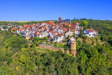 GER12445AW Castle village Neuleiningen near Grunstadt, Palatinate wine road, Rhineland-Palatinate, Germany