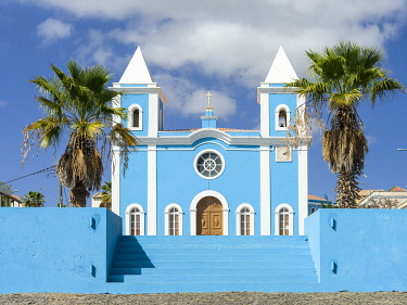 AF08MZW0089 Igreja Nossa Senhora da Conceicao. Sao Filipe, the capital of the island. Fogo Island (Ilha do Fogo), part of Cape Verde