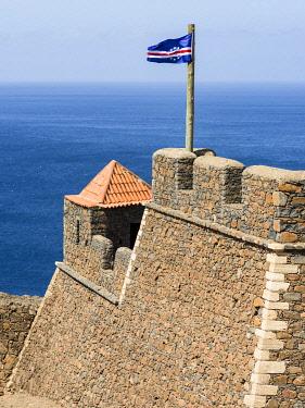 AF08MZW0213 Fortress Forte Real de Sao Filipe. Cidade Velha, historic center of Ribeira Grande, Santiago Island, Cape Verde