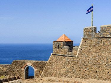 AF08MZW0073 Forte Real de Sao Filipe fortress. Cidade Velha, historic center of Ribeira Grande, listed as UNESCO World Heritage Site. Santiago Island, Cape Verde.