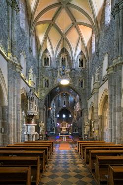 CZE2428AW Interior of St. Procopius Basilica, UNESCO, Trebic, Trebic District, Vysocina Region, Czech Republic