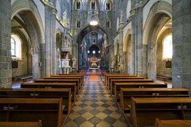 CZE2429AW Interior of St. Procopius Basilica, UNESCO, Trebic, Trebic District, Vysocina Region, Czech Republic