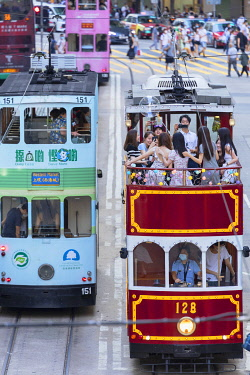 CH12517AW Party tram, Causeway Bay, Hong Kong Island, Hong Kong