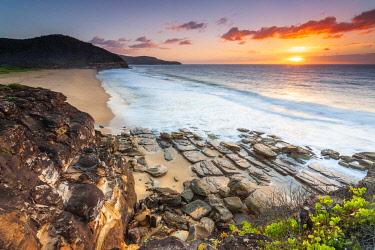 AUS4597AW Sunrise at Tallows Beach. Bouddi National Park, Central Coast, New South Wales, Australia